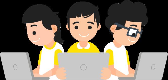 anak belajar komputer